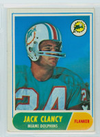 1968 Topps Football 14 Jack Clancy Miami Dolphins Excellent to Excellent Plus