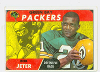 1968 Topps Football 52 Bob Jeter Green Bay Packers Good to Very Good