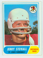1968 Topps Football 112 Jerry Stovall St. Louis Cardinals Good to Very Good