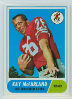 1968 Topps Football 113 Kay McFarland San Francisco 49ers Excellent to Mint