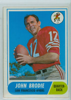 1968 Topps Football 139 John Brodie San Francisco 49ers Very Good to Excellent
