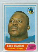1968 Topps Football 141 Brad Hubbert San Diego Chargers Excellent to Mint
