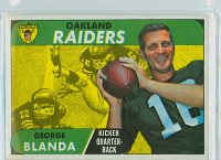 1968 Topps Football 142 George Blanda Oakland Raiders Very Good to Excellent