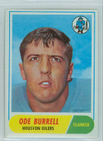 1968 Topps Football 146 Ode Burrell Houston Oilers Excellent to Mint
