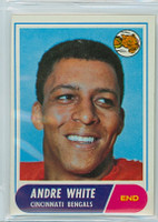 1968 Topps Football 148 Andre White Cincinnati Bengals Excellent to Mint