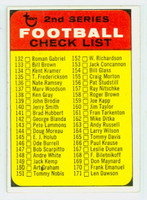 1968 Topps Football 219 Checklist Two GREEN  Very Good to Excellent
