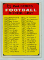 1968 Topps Football 219 Checklist Two GREEN  Excellent to Mint