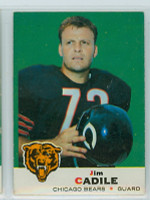 1969 Topps Football 3 Jim Cadile Chicago Bears Excellent to Mint