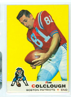 1969 Topps Football 8 Jim Colclough New England Patriots Near-Mint to Mint