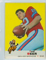 1969 Topps Football 18 Tom Beer Denver Broncos Excellent to Mint