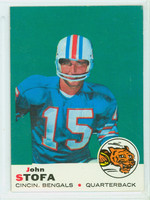 1969 Topps Football 48 John Stofa Cincinnati Bengals Excellent to Mint