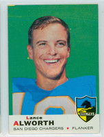 1969 Topps Football 69 Lance Alworth San Diego Chargers Very Good to Excellent
