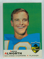 1969 Topps Football 69 Lance Alworth San Diego Chargers Excellent