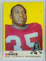 1969 Topps Football 70 Jim Nance New England Patriots Excellent to Mint