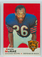 1969 Topps Football 73 Bennie McRae Chicago Bears Excellent to Mint