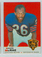1969 Topps Football 73 Bennie McRae Chicago Bears Near-Mint