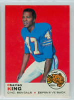 1969 Topps Football 79 Charley King Cincinnati Bengals Excellent to Mint