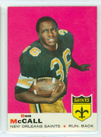 1969 Topps Football 83 Don McCall New Orleans Saints Near-Mint to Mint