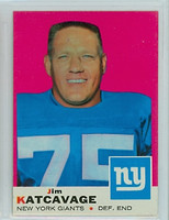 1969 Topps Football 84 Jim Katcavage New York Giants Excellent to Mint