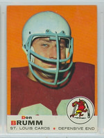 1969 Topps Football 87 Don Brumm St. Louis Cardinals Excellent to Mint