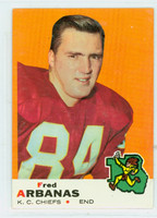 1969 Topps Football 89 Fred Arbanas Kansas City Chiefs Excellent to Mint