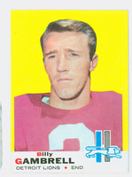 1969 Topps Football 101 Billy Gambrell Detroit Lions Excellent to Mint