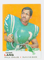 1969 Topps Football 107 Israel Lang Philadelphia Eagles Excellent to Mint