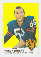 1969 Topps Football 117 Rudy Kuechenberg Chicago Bears Very Good to Excellent