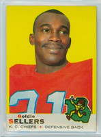 1969 Topps Football 119 Goldie Sellers Kansas City Chiefs Excellent to Mint