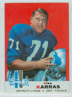 1969 Topps Football 123 Alex Karras Detroit Lions Excellent