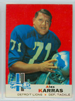 1969 Topps Football 123 Alex Karras Detroit Lions Excellent to Mint