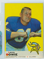1969 Topps Football 126 Larry Bowie Minnesota Vikings Excellent to Mint