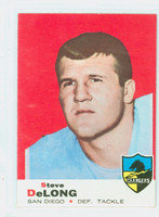 1969 Topps Football 129 Steve DeLong San Diego Chargers Excellent to Mint