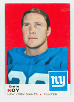 1969 Topps Football 131 Ernie Koy New York Giants Excellent to Excellent Plus