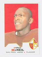 1969 Topps Football 135 Clifton McNeil San Francisco 49ers Excellent