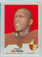 1969 Topps Football 135 Clifton McNeil San Francisco 49ers Excellent to Mint
