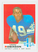 1969 Topps Football 145 Johnnie Robinson Detroit Lions Very Good to Excellent