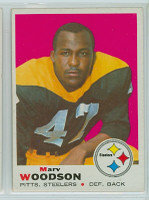 1969 Topps Football 155 Marv Woodson Pittsburgh Steelers Excellent to Mint
