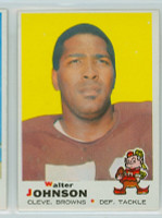 1969 Topps Football 165 Walter Johnson Cleveland Browns Excellent to Mint