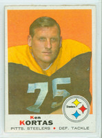 1969 Topps Football 199 Ken Kortas Pittsburgh Steelers Excellent to Excellent Plus
