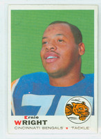 1969 Topps Football 212 Ernie Wright Cincinnati Bengals Excellent to Excellent Plus