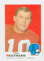 1969 Topps Football 221 Pete Beathard Houston Oilers Excellent to Mint