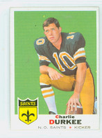 1969 Topps Football 257 Charlie Durkee New Orleans Saints Excellent to Excellent Plus