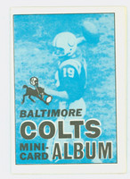 1969 Topps Football 4-1 Booklets 2 Baltimore Colts Excellent to Mint