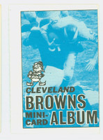 1969 Topps Football 4-1 Booklets 4 Cleveland Browns Excellent