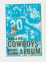 1969 Topps Football 4-1 Booklets 5 Dallas Cowboys Excellent to Mint