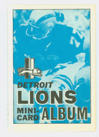 1969 Topps Football 4-1 Booklets 6 Detroit Lions Excellent to Mint