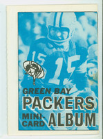 1969 Topps Football 4-1 Booklets 7 Green Bay Packers Excellent