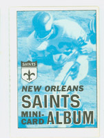 1969 Topps Football 4-1 Booklets 10 New Orleans Saints Excellent to Mint