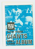 1969 Topps Football 4-1 Booklets 11 New York Giants Excellent